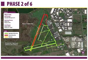 thumbnail image of map for phase 2 of Napa County Airport's runway rehabilitation project  Opens in new window